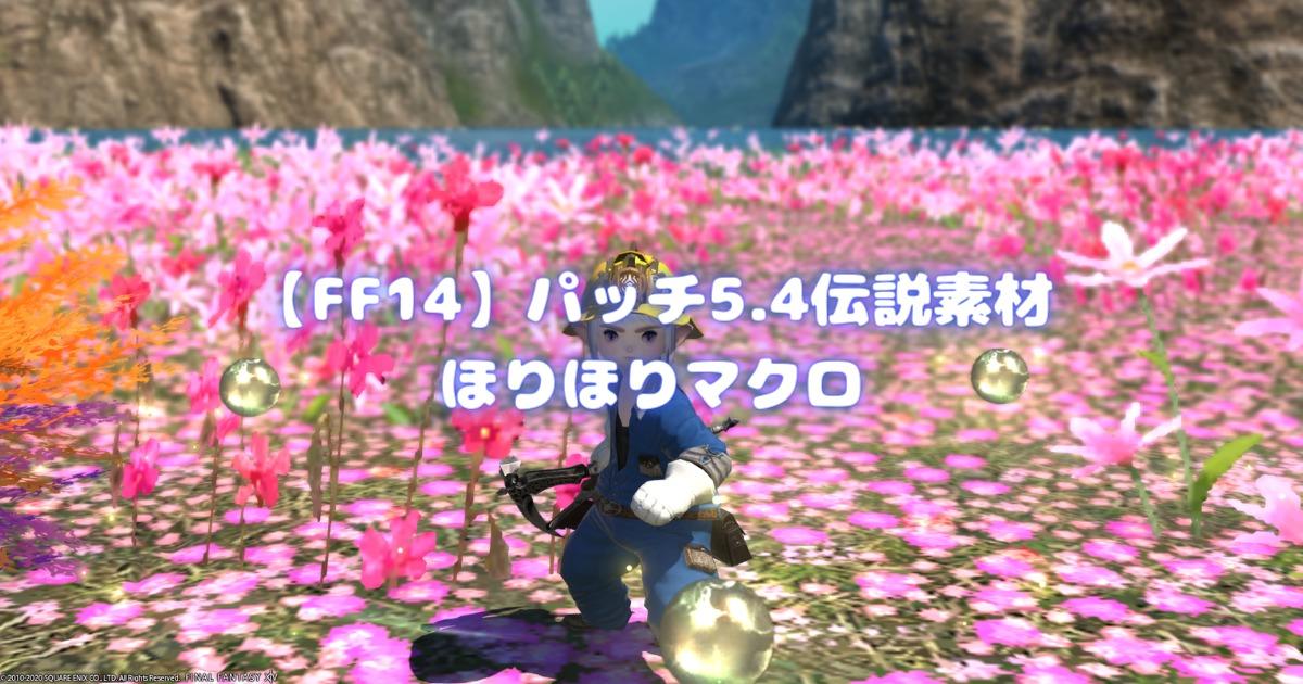 【FF14】パッチ5.4伝説素材ほりほりマクロ